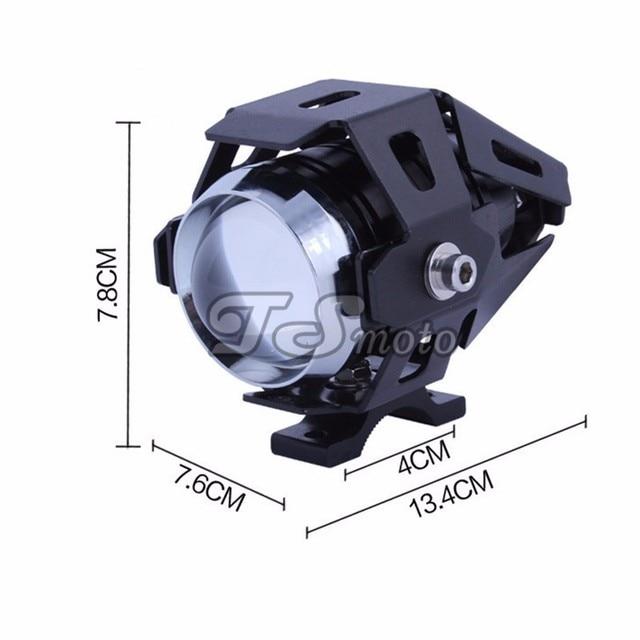 1 pair 125W motorcycle spotlights auxiliary lamp super bright Cree led chip U7 motobike headlamp moto driving car fog light NEW