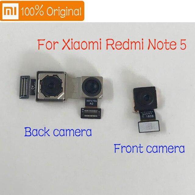 Cable flexible para cámara trasera de Xiaomi Redmi Note 5, repuesto de cámara trasera principal grande y frontal, Original