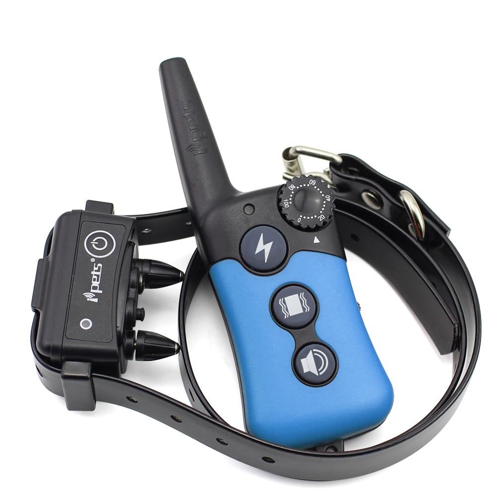 iPets PET619 Electric Pet Dog Training Collar Large 300m Remote Vibration Shock Sound Anti Bark Training Collar Bark Dog Collar-in Training Collars from Home & Garden    1