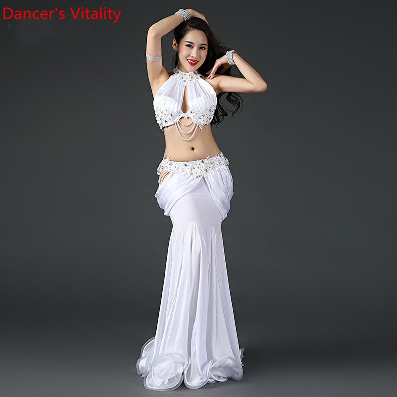 New Professional Belly Dance Bra+Skirt Oriental Women Belly Dance Costumes Belly Dance Performance Suit