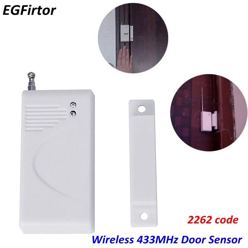 Wireless Magnetic Contact Sensor Battery Window Door Sensor Detector 433MHz 2262 Code For Wireless Burglar Alarm PanelWireless Magnetic Contact Sensor Battery Window Door Sensor Detector 433MHz 2262 Code For Wireless Burglar Alarm Panel