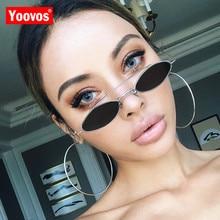 Yoovos 2019 Vintage Sunglasses Women Alloy Mirror Glasses Lady Classic Retro Metal Sun Glasses Mirror Oculos De Sol Gafas