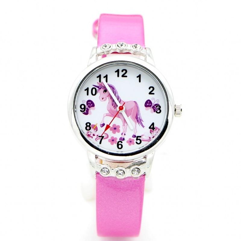 2019 New Cartoon Women Kids Watch Children Girls Ladies Wristwatch Quartz Diamond Unicorn Desgin Watches Relogio Kol Saati Clock