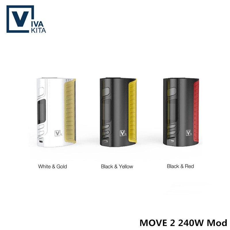 Cigarette électronique vape Mod MOVE 2 240 W boîte Mod fit 3x18650 pile de batterie (non inclus) 240 W vaporisateur Mod avec 510 fil