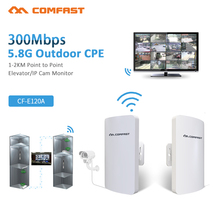 2pcs 1 2KM Wireless Outdoor CPE WIFI Router 300Mbps Access Point AP Router WIFI Bridge WDS