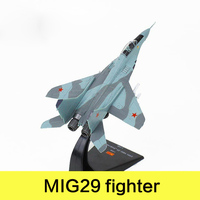 Military Alloy Airplane Model MIG29 Fighter Russia Federation Second World War Classical Flighter Diecast Scale Model Toys 1:72