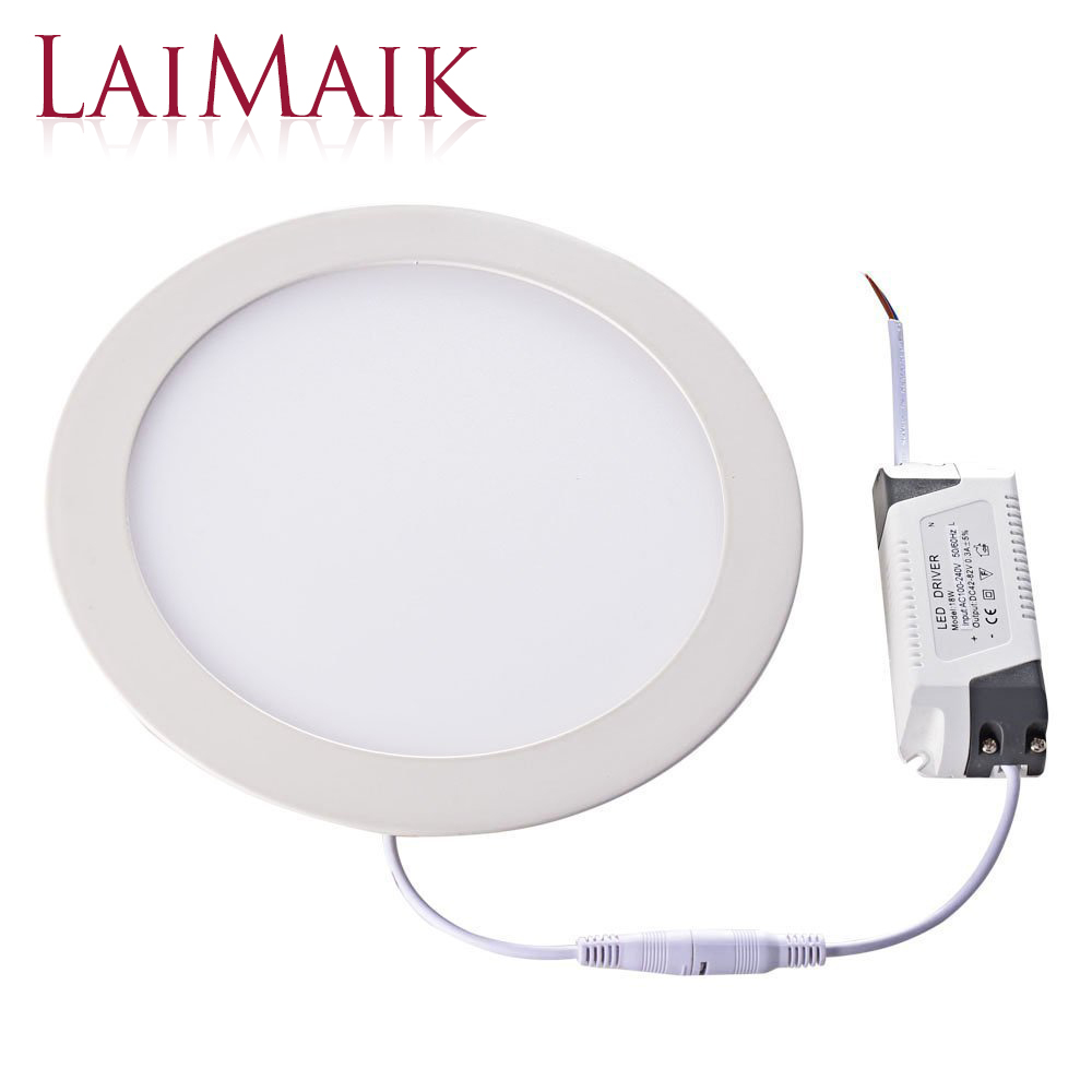 LAIMAIK LED Panel Light 20PCS Lot AC110 220V Ceiling Light 3W 4W 6w 9W 12w 15W