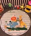 1 pcs 150 cm Macia Do Bebê Esteira do Jogo Cobertor Game Pad Brinquedos De Armazenamento saco de Crianças Brincam Tapete Tapete Engatinhando Tapete Subida Crianças Brinquedos Diversos bolsa