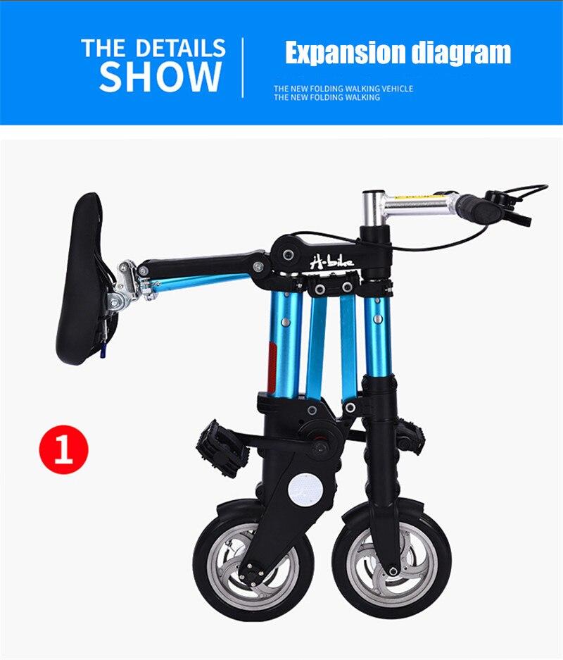 "Brand New Ultra Light 8""/10"" Mini Folding Bike Bicycle Portable Outdoor Subway Transit Vehicles Foldable Bicicleta"