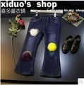 Европейские товары марка женский дети 2016 зимние Девушки Супер краев истинный цвет волос мяч стрейч джинсовые брюки, бесплатная доставка