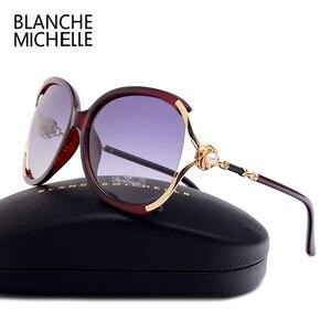 Image 5 - Blanche Michelle 2019 Donne Occhiali Da Sole Polarizzati UV400 Progettista di Marca di Alta Qualità Gradiente Occhiali Da Sole Donna oculos Con La Scatola