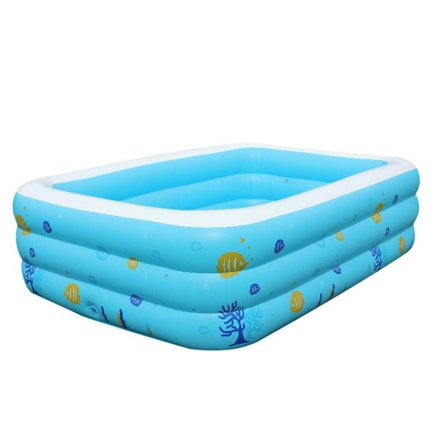 Large Inflatable Swimming Pool Center Lounge Family Kids Water Play Fun  Backyard Toy 130*90