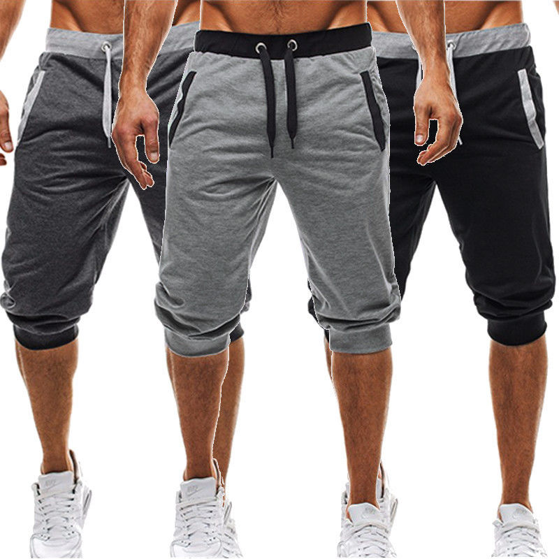 BBYES Summer Men Casual Sweatpants Shorts 3/4 Trousers Short Fitness Clothing Bodybuilding Men Shorts Summer Men Clothing