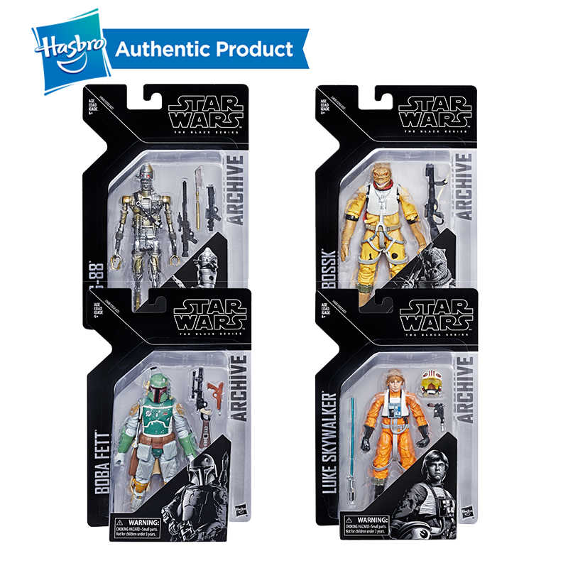 Hasbro Star Wars The Black Series Arquivo Brinquedos Luke Skywalker Luke Skywalker Figura StarWars Boba Fett Ig88 BossK 6 Polegadas