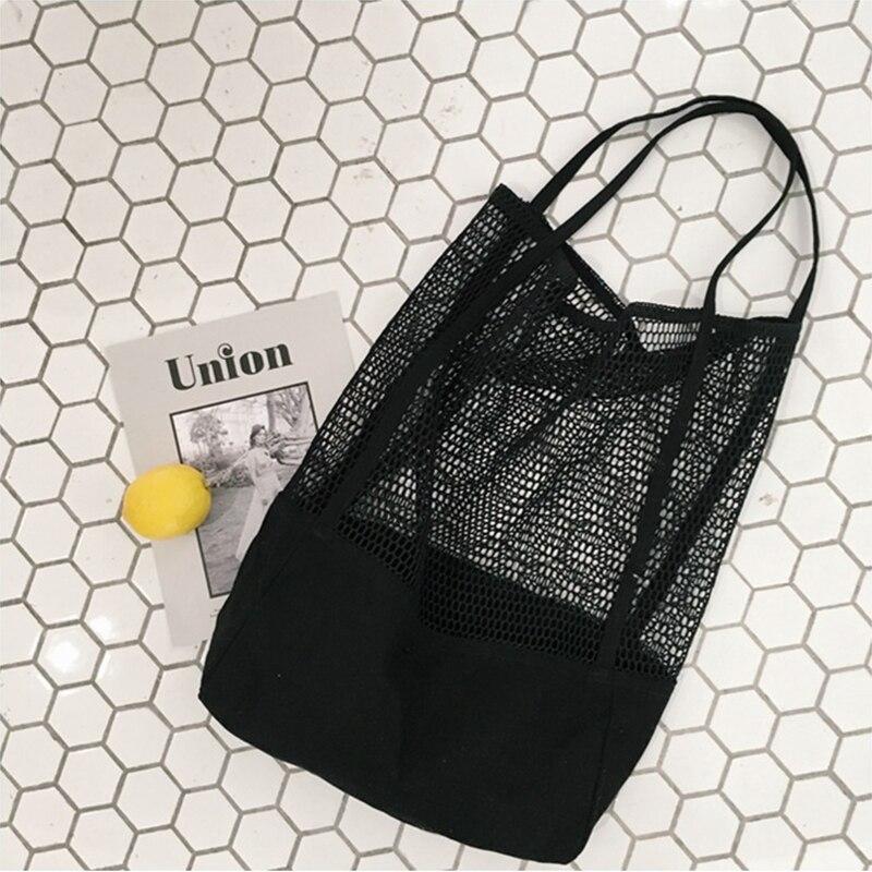 Youda Korea Single Shoulder Bag Large Capacity Portable Handbags Ladies Shopping Totes Mesh Hollow Beach Handbag