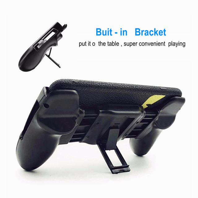 4 in 1 PUBG Moible Controller Gamepad Free Fire L1 R1 Triggers PUGB Mobile Game Pad Grip L1R1 Joystick for iPhone Android Phone
