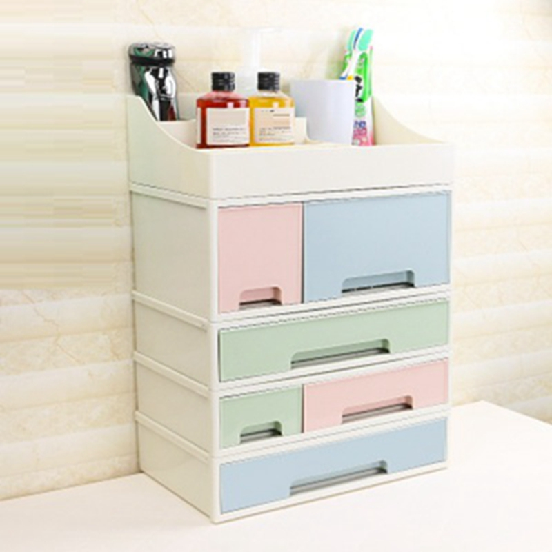 <font><b>Drawer</b></font> Compartment Storage Box Desktop Jewelry <font><b>Organizer</b></font> Boxes <font><b>Acrylic</b></font> Plastic Cosmetics Storage Box Kitchen Seasoning <font><b>Organizer</b></font> image