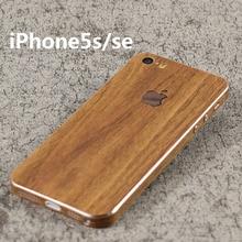 Wood Grain Decorative For Apple iPhone 5s 5 SE Mobile Phone