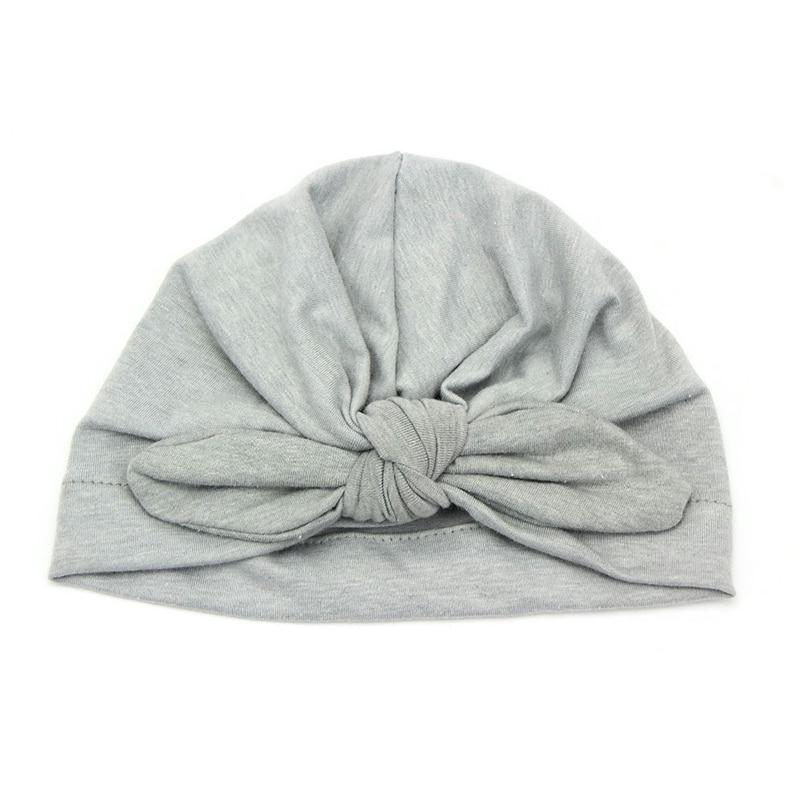 Baby Rabbit Ears Cap Hat Newborn Baby Toddler Kids Boy Girl Bowknot Cute Soft Cotton Beanie Hat Warm Hat