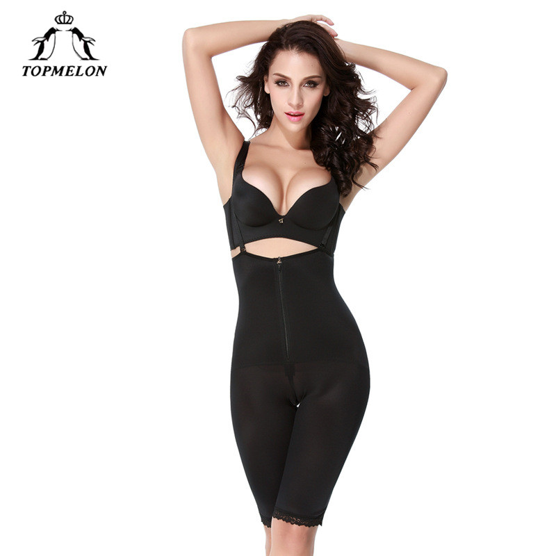 TOPMELON Women Seamless Shapewear Adjustable Strap Bodysuit Full Body Shapers Simming Girdle Waist Cincher Underwear Butt Lifter