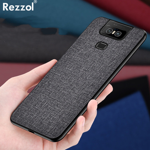 Image 1 - Cloth Hard PC Case For Asus Zenfone 6 ZS630KL Case Soft TPU Bumper Back Cover For Asus Zenfone 6Z Simple Shokcproof Case Coques