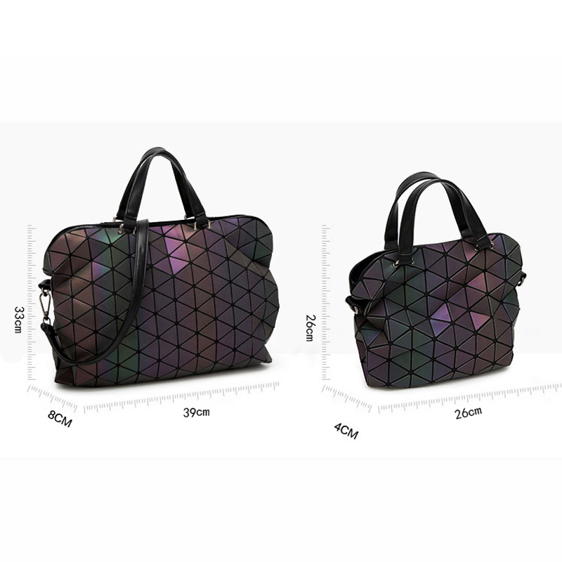 Bags Handbags Women Famous Brands Luminous Geometric Plaid Messenger Bag Casual Tote Shoulder Bag bolso Fashion Ladies Handbags