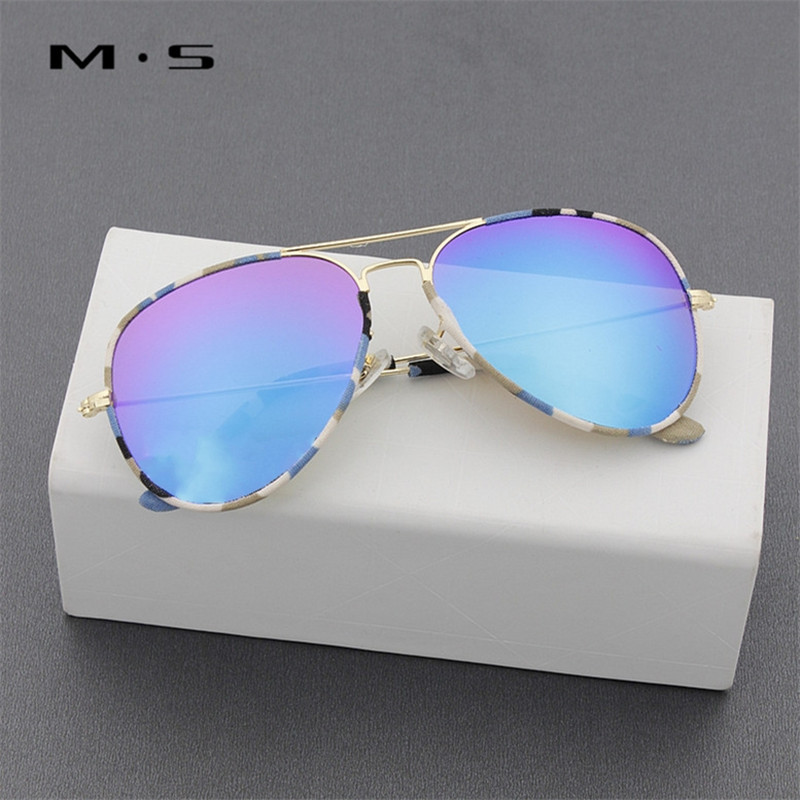 MS Girl Brand Designer Women Sunglasses Pilot Sun glasses Sea gradient shades Men Fashion glasses
