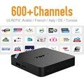 Andorid TV Box 2 GB RAM IPTV Europa Árabe Francés España Tunecino Suscripción Gratuita Conexión Wireless Smart Media Caja