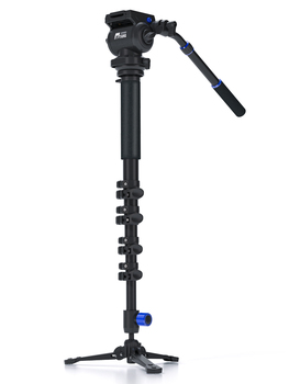 JieYang JY0618 carbon fiber Professional Monopod For Video Camera / Tripod For Video /  Tripods Fluid Head Damping Accessories