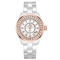 Буреи 8003 Швейцария часы женщины люксовый бренд J12 серии календарь Керамика алмаз моды сапфирового цвета розового золота relogio feminino