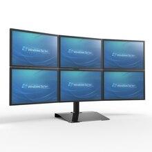 S035 Full Motion 13-24 дюймов экран монитор держатель 6 экран Настольный стенд вращение на 360 градусов загрузка 10 кг каждая головка