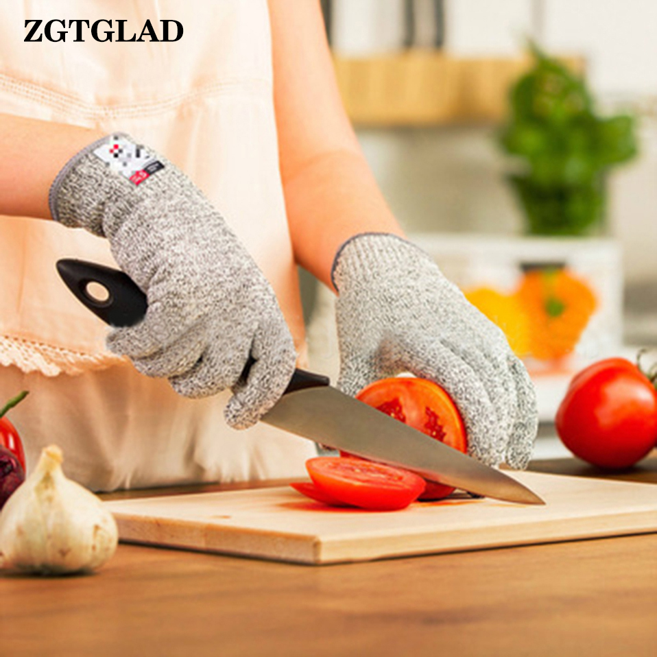 ZGTGLAD 1 Pair New Arrival Safety Cut Proof Stab Resistant Stainless Steel Metal Mesh Work Butcher Gloves Party Gift Favors
