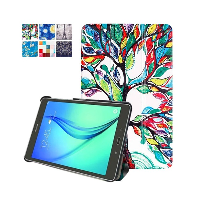 Original protective leather cover For Slim Cover Samsung Galaxy Tab S2 9.7 Cover Case SM-T810 T815 Folding Magnetic Case+gift