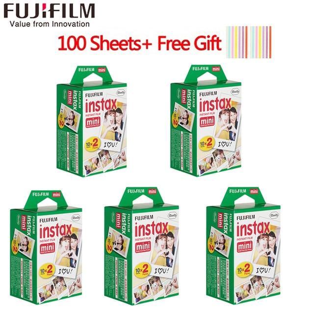 20-100 Sheets Fuji Fujifilm instax mini 9 films white Edge 3 Inch wide film for Instant Camera mini 8 9 7s 25 50s 90 Photo paper