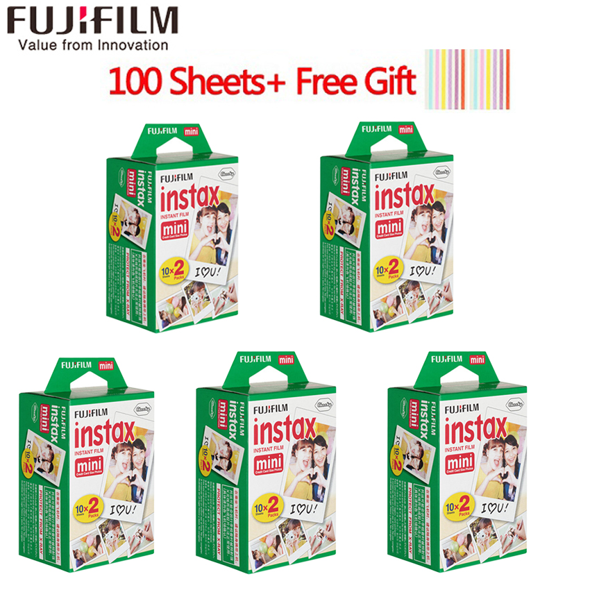 20-100 blätter Fuji Fujifilm instax mini 9 filme weißen Rand 3 zoll breite film für Instant Kamera mini 8 9 7 s 25 50 s 90 Foto papier