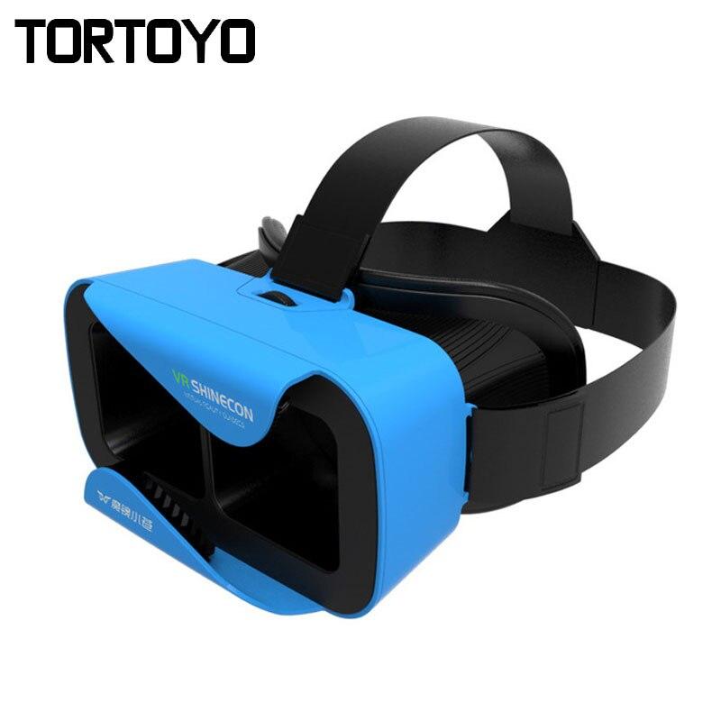 New Portable VR Shinecon Mini 3D Virtual Reality Helmet Cardboard 3D VR Glasses for iPhone Samsung Xiaomi 4.7-6 inch Smartphone