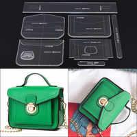 1 Set Acrylic Stencil Laser Cut Template DIY Leather Handmade Craft Shoulder Bag Sewing Pattern 17*13*7cm