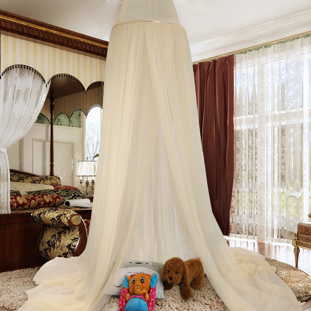 Universal Elegant Round Insect Kids Bed Canopy Netting Curtain Dome Polyester Bedding Mosquito Net Home Furniture Moustiquaire-in Mosquito Net from Home ... & Universal Elegant Round Insect Kids Bed Canopy Netting Curtain ...