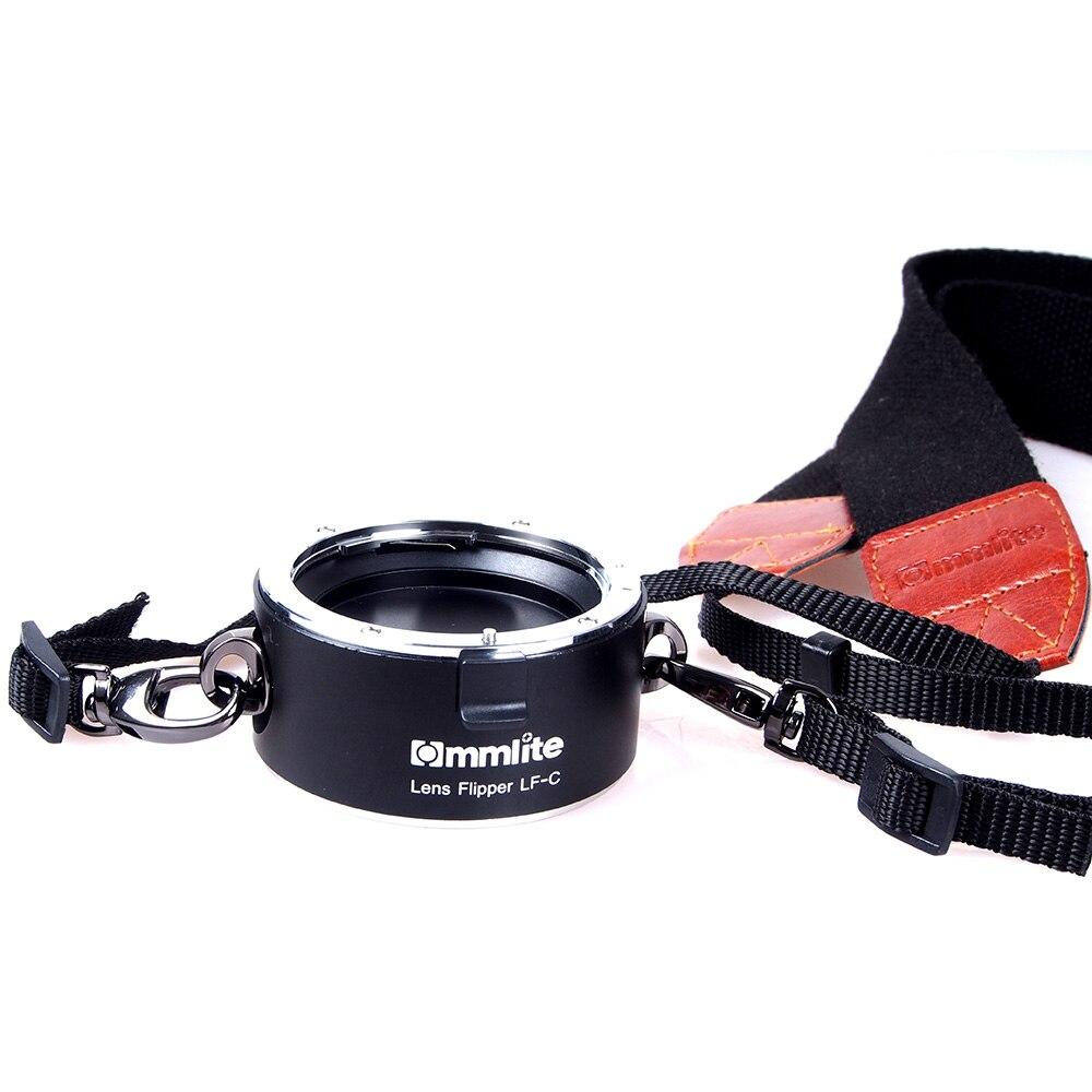 Commlite Lentille Flipper Double Double Support de Lentille Changement Rapide Outil avec Lanière pour Canon Nikon Sony E-mount