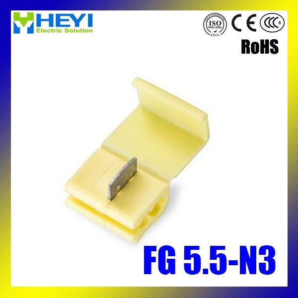 Top quality 100pcs/lot FG5.5 N3 Yellow Fast Scotch Lock Wire ...