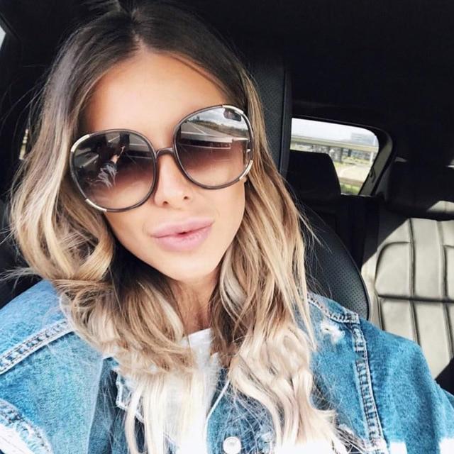 a1152ac69fa7a 2018 Italia marca de lujo Oversized cuadrado gafas de sol mujer hombres  marca diseñador Retro gafas