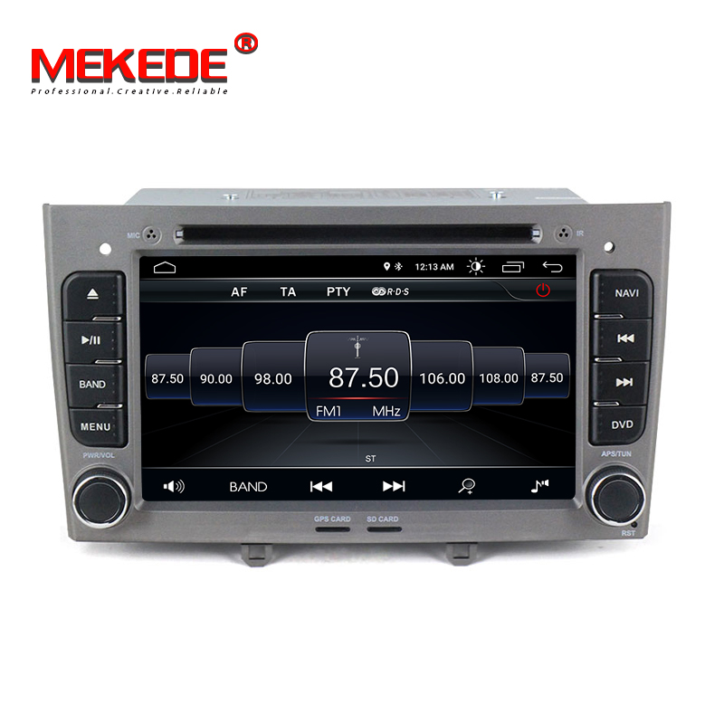 Free shipping MEKEDE 7inch 2din Android 8 1 car gps dvd radio for Peugeot 308 408