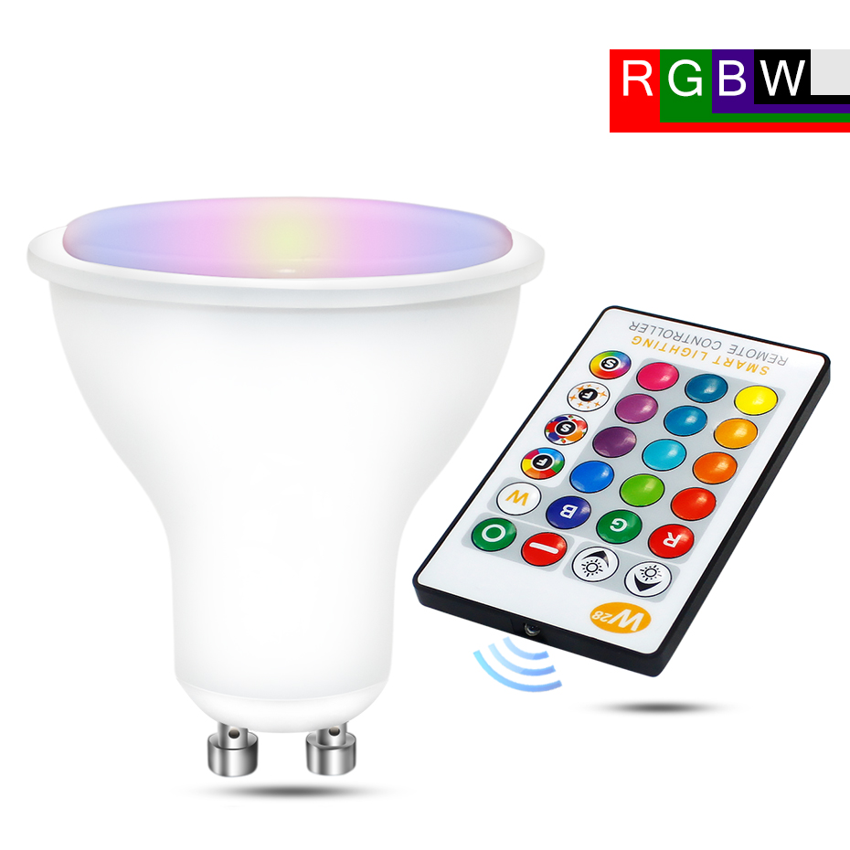 Spot Led RGB GU10  Lamp Bulb 8W RGBW RGBWW GU10 Led 220V 110V RGB Spotlight Bombillas Led GU 10 16 Colors With Remote Control