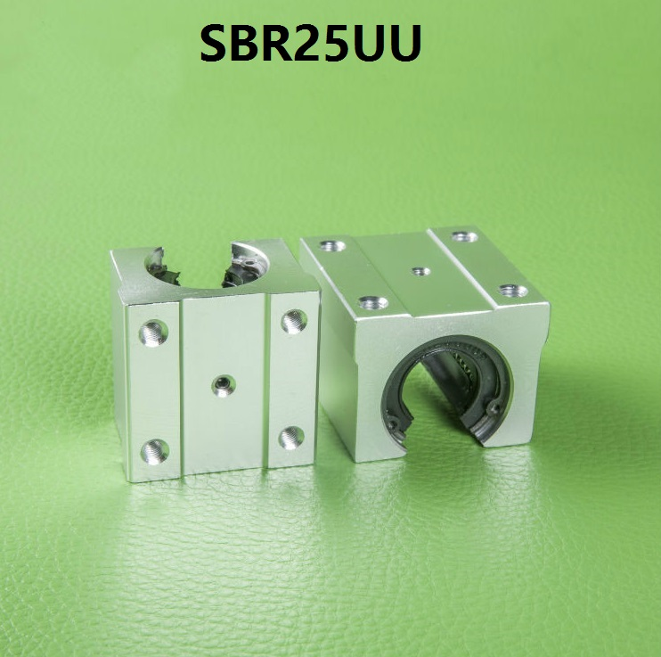 50pcs/lot SBR25UU Open Type <font><b>Linear</b></font> Ball Bearing Sliding Block for <font><b>SBR25</b></font> 25mm <font><b>linear</b></font> guide <font><b>rail</b></font> CNC router part SME25UU image
