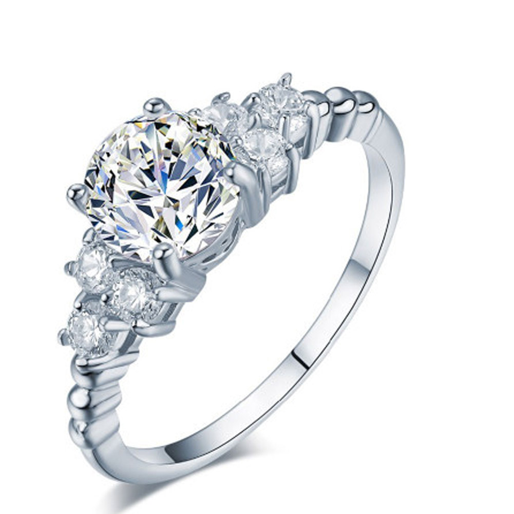 New Hot Luxury Carving Filigree Band CZ Zircon Wedding Ring Sets For Women Jewelry Fashion Whosale Anillos Gift