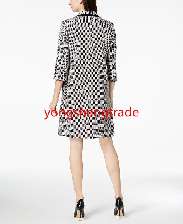 Topper Style Custom Costume Élève Mode Bouton Made Accepter Un Seul Veste Femmes Robe Gaine Classique 100 wAwI4U