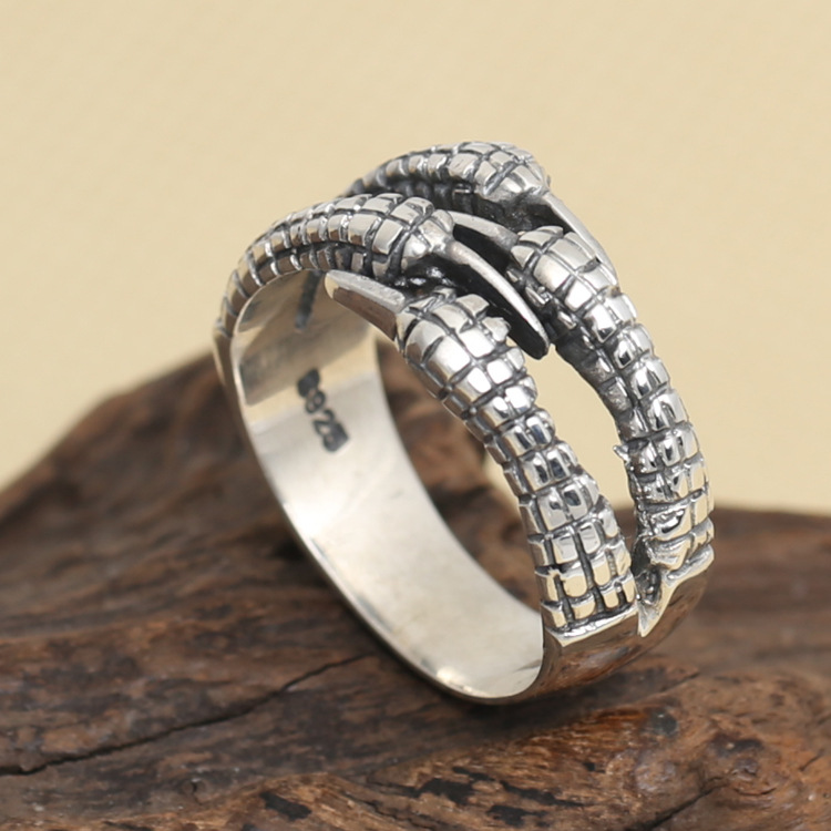 Wholesale S925 Sterling Silver Ring retro Thai silver ...