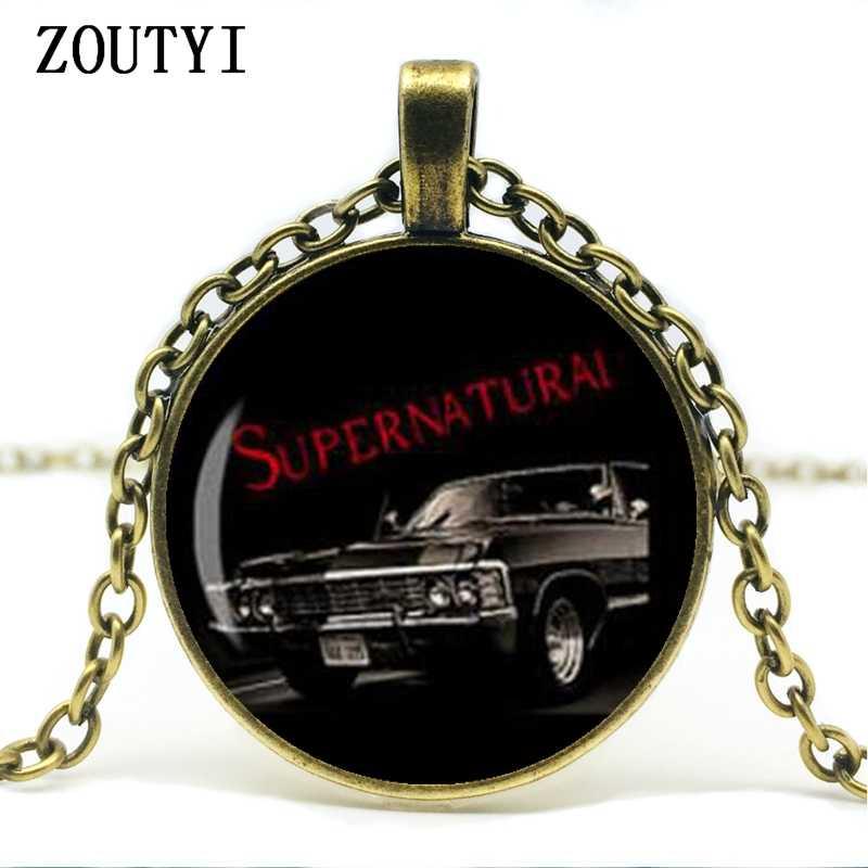 2018/hot bán, siêu nhiên Impala siêu nhiên đường cho đến nay Dean Winchester xe Sam vòng cổ kính cabochon vòng cổ.