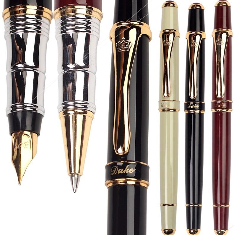 Set of Gel RollerBall pen  +  5 extra refills +Fountain Pen Original DUKE 8-1 sign pens  Free Shipping refills for preventa mmf kable and sentry counter pens 2 pack [set of 3]