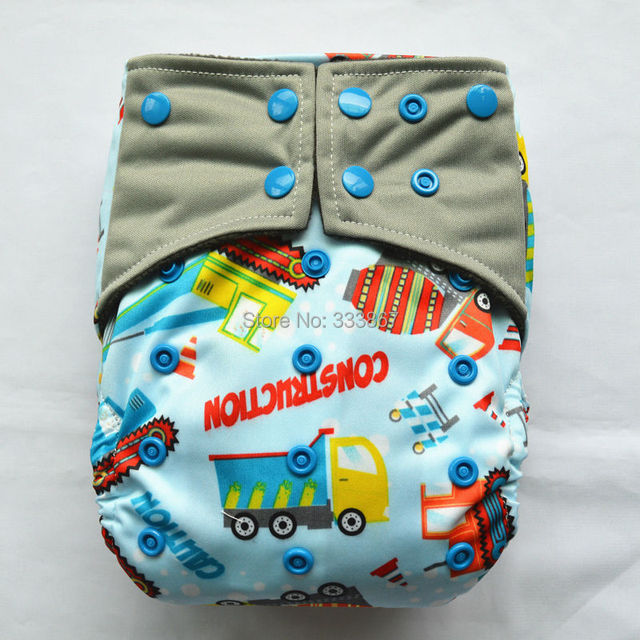 1 All In One Charcoal Bamboo Baby Cloth Diaper Nappy Washable